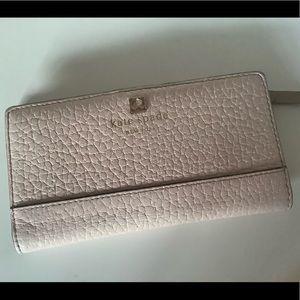 Kate Spade soft pink wallet